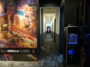 ゴリラクリニック渋谷院の廊下の写真