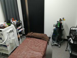ゴリラクリニック渋谷院の施術室の写真